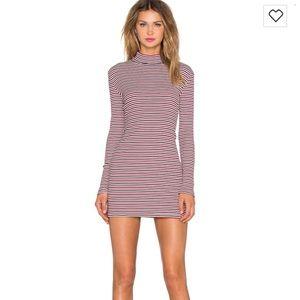 Minkpink striped skivy mini dress bodycon medium